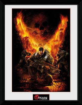 Gears of War - Gears 1 Poster emoldurado de vidro