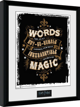 Harry Potter - Words Poster Emoldurado
