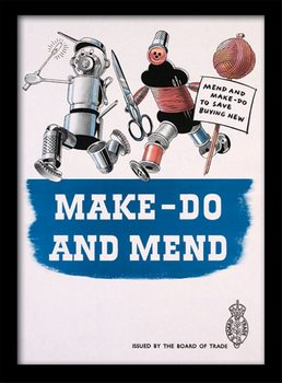 IWM - Make Do & Mend Poster emoldurado de vidro