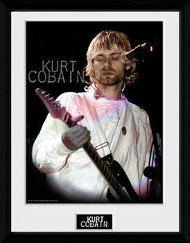 Kurt Cobain - Cook Poster emoldurado de vidro