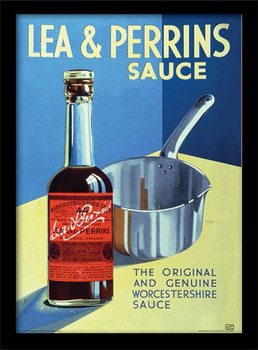 Lea & Perrins - The Original Worcester Sauce Poster emoldurado de vidro
