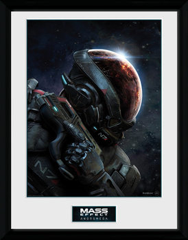 Mass Effect Andromeda Poster emoldurado de vidro