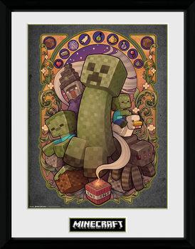 Minecraft - Creeper Nouveau Poster emoldurado de vidro
