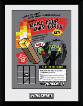 Minecratf - Make Your Own Torch Poster Emoldurado