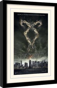 MORTAL INSTRUMENTS - rune Poster emoldurado de vidro