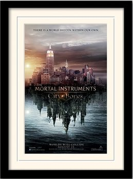MORTAL INSTRUMENTS - teaser Poster emoldurado de vidro