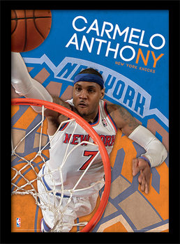 NBA - Carmelo Anthony Poster emoldurado de vidro