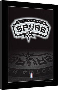 NBA - San Antonio Spurs Logo Poster emoldurado de vidro