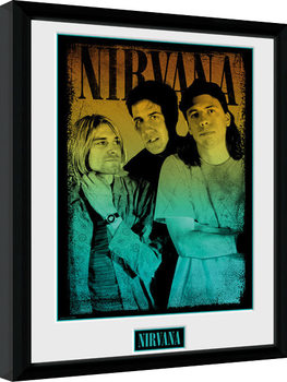 Nirvana - Gradient Poster emoldurado de vidro