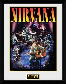 Nirvana - Unplugged Poster emoldurado de vidro