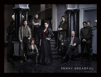 Penny Dreadful - Group Poster emoldurado de vidro