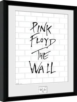 Pink Floid: The Wall - White Wall Poster Emoldurado