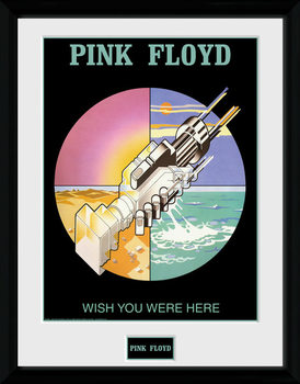 Pink Floyd - Wish You Were Here 2 Poster emoldurado de vidro
