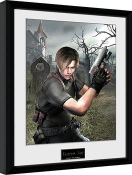 Resident Evil - Leon Graveyard Poster emoldurado de vidro