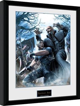 Resident Evil - Leon Poster emoldurado de vidro