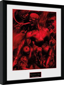 Resident Evil - Montage Poster emoldurado de vidro