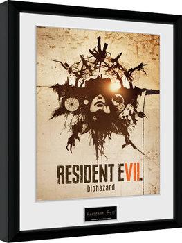 Resident Evil - Talisman Poster emoldurado de vidro
