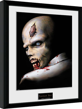 Resident Evil - Zombie Poster emoldurado de vidro