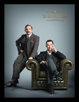 Sherlock - Chair Poster emoldurado de vidro
