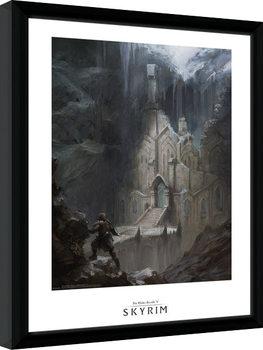 Skyrim - Elf Temple Poster Emoldurado