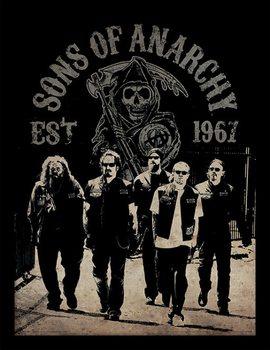 Sons of Anarchy - Reaper Crew Poster emoldurado de vidro