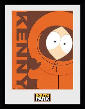South Park - Kenny Poster emoldurado de vidro