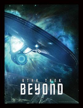 Star Trek Beyond - Enterprise Poster emoldurado de vidro