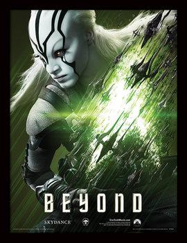 Star Trek Beyond - Jaylah Poster emoldurado de vidro
