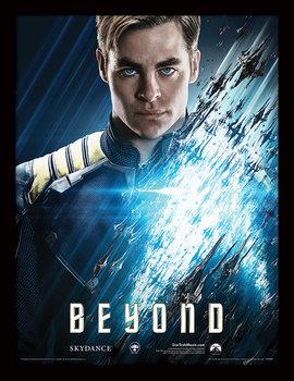 Star Trek Beyond - Kirk Poster emoldurado de vidro