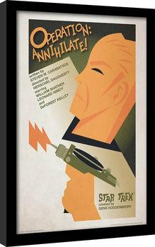 Star Trek - Operation: Annihilate! Poster emoldurado de vidro