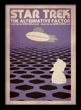 Star Trek - The Alternative Factor Poster emoldurado de vidro
