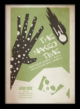 Star Trek - The Naked Time Poster emoldurado de vidro