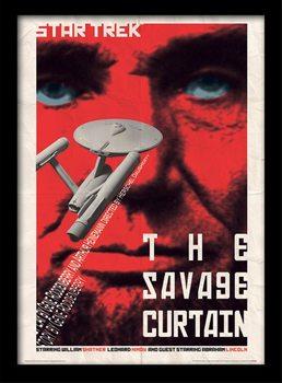 Star Trek - The Savage Curtain Poster emoldurado de vidro