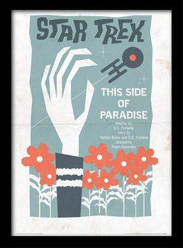 Star Trek - This Side Of Paradise Poster emoldurado de vidro
