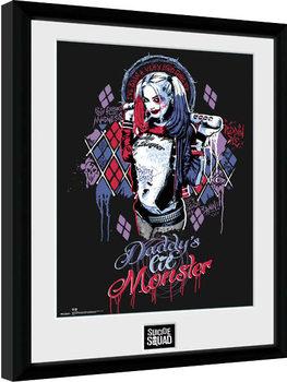 Suicide Squad - Harley Quinn Monster Poster Emoldurado