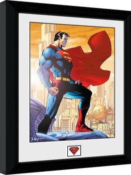 Superman - Daily Planet Poster Emoldurado