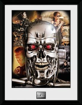 Terminator 2 - Collage Poster emoldurado de vidro