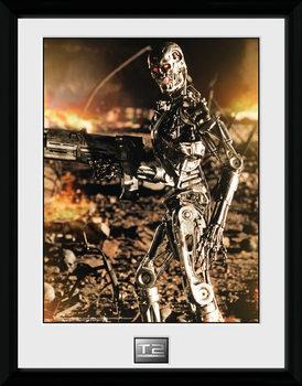 Terminator 2 - Endo Poster emoldurado de vidro