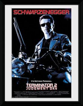 Terminator 2 - One Sheet Poster emoldurado de vidro
