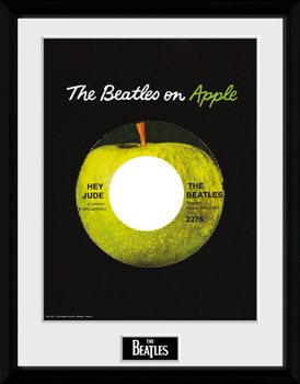 The Beatles - Apple Poster emoldurado de vidro