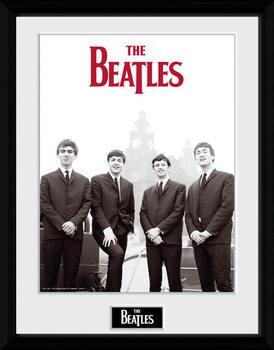 The Beatles - Boat Poster emoldurado de vidro