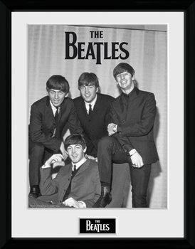 The Beatles - Chair Poster emoldurado de vidro