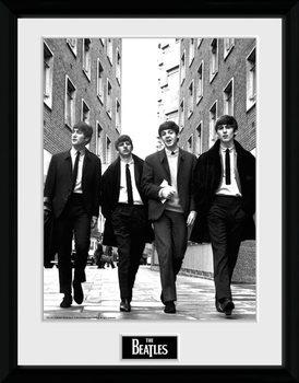The Beatles - In London Portrait Poster emoldurado de vidro