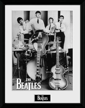 The Beatles - Instruments Poster emoldurado de vidro