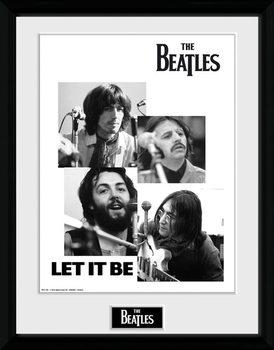 The Beatles - Let It Be Poster emoldurado de vidro