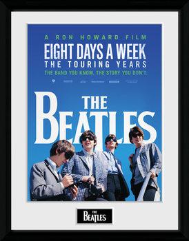 The Beatles - Movie Poster emoldurado de vidro