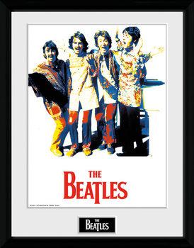 The Beatles - Psychedlic Poster emoldurado de vidro