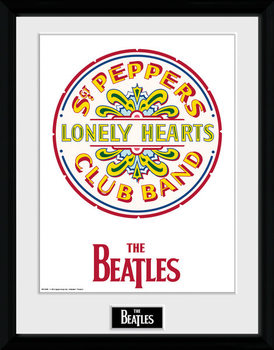 The Beatles - Sgt Pepper Poster emoldurado de vidro