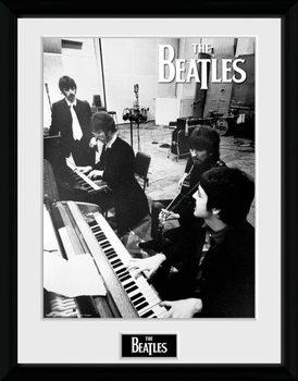 The Beatles - Studio Poster emoldurado de vidro