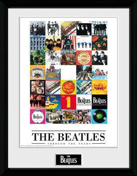 The Beatles - Through The Years Poster emoldurado de vidro